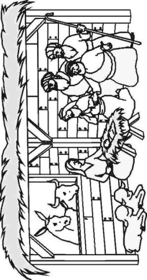 Image gallery krippe zeichnung for Fensterbilder vorlagen